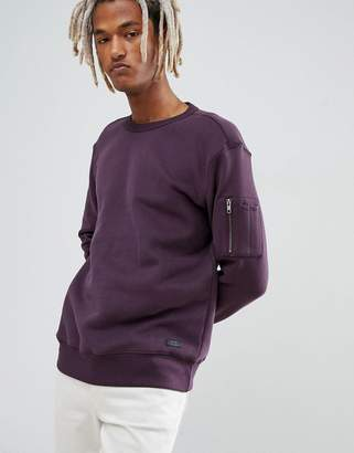 Lee Sleeve Pocket Crew Sweatshirt