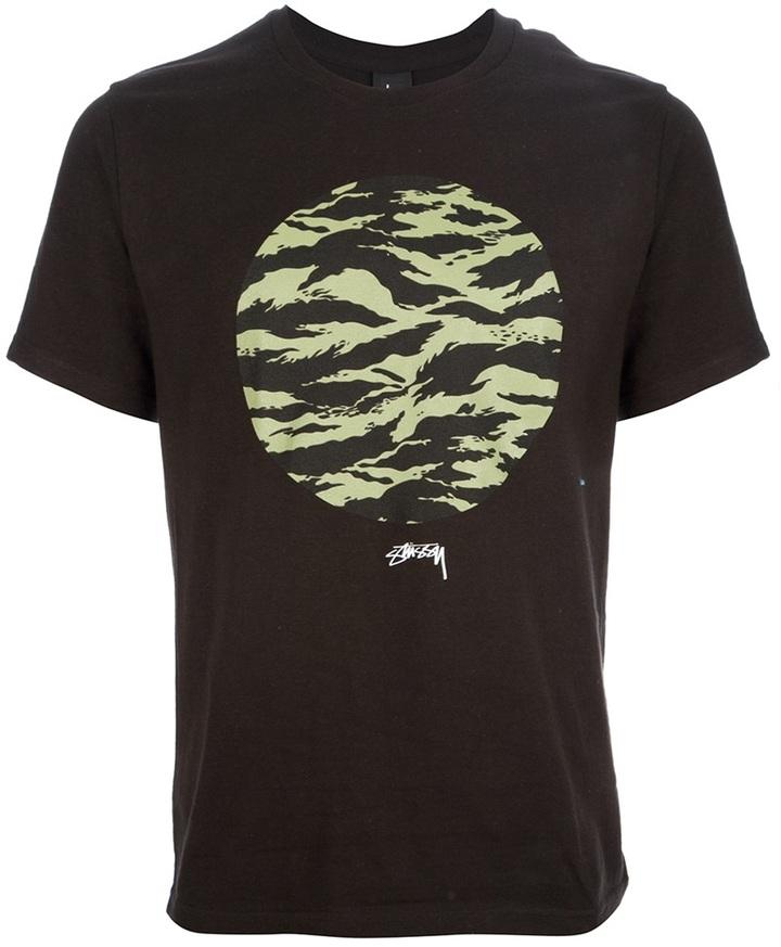 Stussy circle printed t shirt