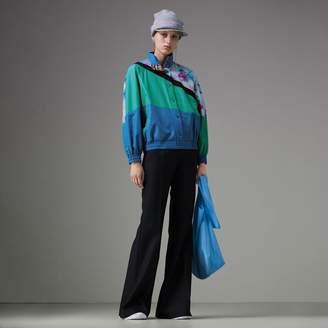 Burberry Tie-dye Silk Shell Suit Jacket , Size: 04