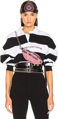 Alexander Wang Rugby Stripe Cropped Shirt