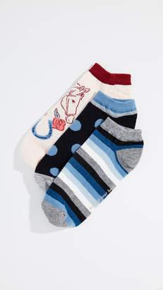 Kate Spade Howdy No Show Socks 3Pack