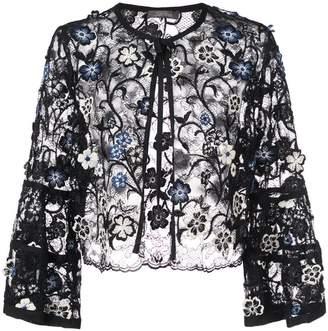 Lela Rose 3D embroidered bolero jacket