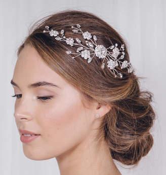 Carlisle Debbie Silver Crystal Wedding Hair Vine Comb Small Sybil
