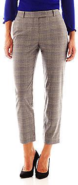 Liz Claiborne Slim-Leg Plaid Ankle Pants