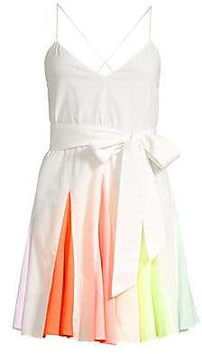 Alice + Olivia Women's Kimmy Sleeveless Short Godet Dress