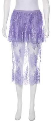 Mason Lace Peplum Skirt