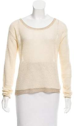 Magaschoni Lurex-Trimmed Linen-Blend Sweater