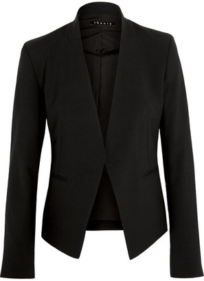Theory - Lanai Stretch-wool Crepe Blazer - Black $395 thestylecure.com