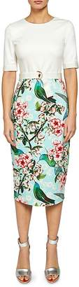 Ted Baker Julieta Nectar Midi Dress