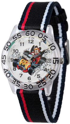 DISNEY MICKEY MOUSE Disney Mickey Mouse Boys Black Strap Watch-Wds000217