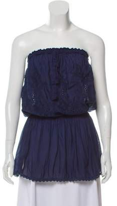 Melissa Odabash Strapless Embroidered Top