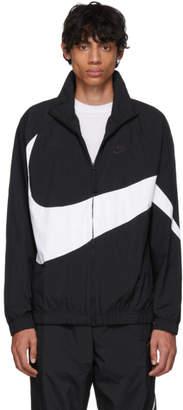 Nike Black and White Swoosh Jacket