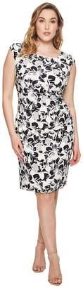 Lauren Ralph Lauren Plus Size Koriza Montero Floral Matte Jersey Dress Women's Dress