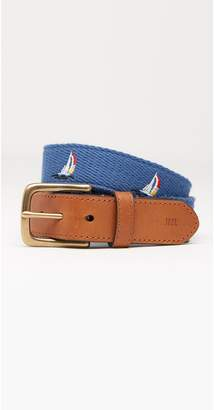 J.Mclaughlin Boys' Mini Ashton Embroidered Belt in Sail Boat