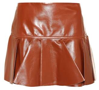 Chloé Leather miniskirt