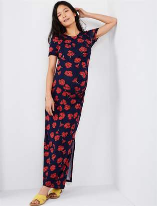 A Pea in the Pod Lined Side Slit Maxi Maternity Dress