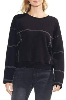 Vince Camuto Menswear Charm Drop Shoulder Pullover