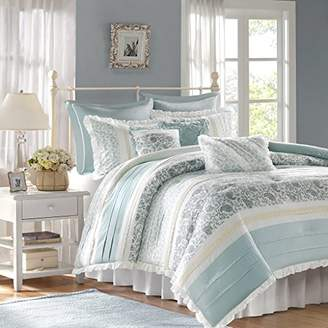 Madison Park Dawn King Size Bed Comforter Set Bed In A Bag - Aqua