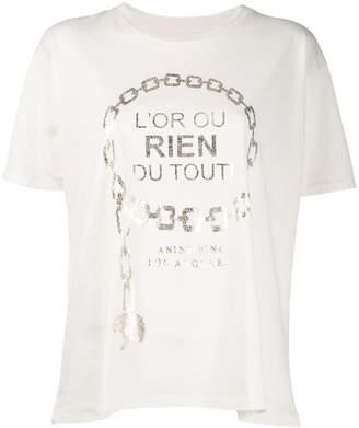 Anine Bing Ringo gold print T-shirt
