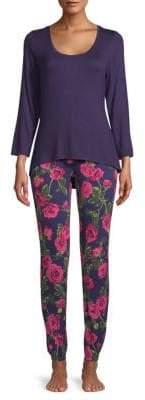 Betsey Johnson Lace Heart Two-Piece Pajama Set