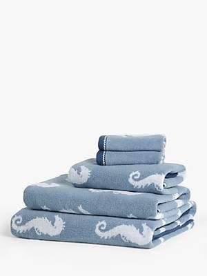 John Lewis & Partners Seahorse Towels