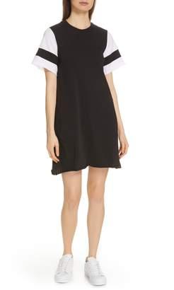 ATM Anthony Thomas Melillo Stripe Sleeve Jersey T-Shirt Dress