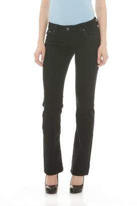 Suko Jeans Womens Power Stretch Mid Rise Boot Cut Jeans 1732