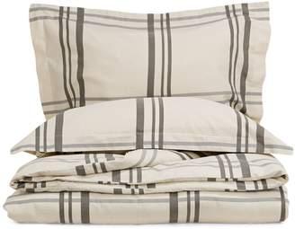 Glucksteinhome Hayden Linen-Cotton 3-Piece Duvet Cover Set
