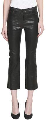 J Brand Selena Mid Rise Crop Leather Jeans