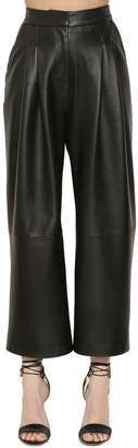 Murad Zuhair Cropped Leather Pants