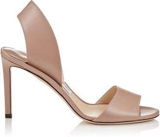 Jimmy Choo SHEILA 85 Ballet Pink Liquid Leather Mules