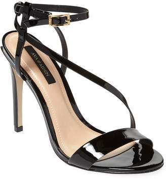 Ava & Aiden Patent-Leather Ankle Strap Sandal