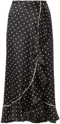 Ganni Leclair Polka Dot Skirt