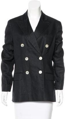 Lauren Ralph Lauren Double-Breasted Linen Blazer $125 thestylecure.com