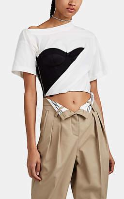 Alexander Wang Women's Bustier Off-The-Shoulder T-Shirt - White