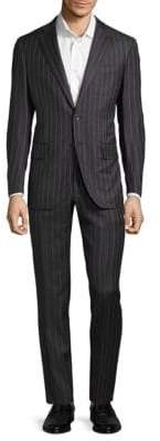 Isaia Regular-Fit Striped Suit
