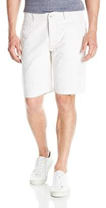 Hudson Jeans Men's River Raw Hem Linen Chino Short