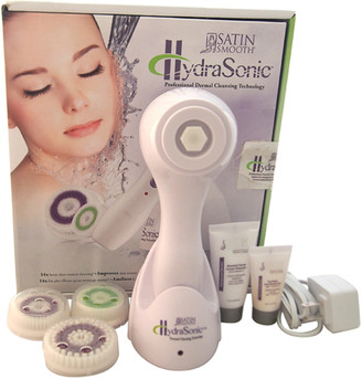 Satin Smooth Unisex 7Pc White Hydrasonic Professional Dermal Cleansing Technology Kit