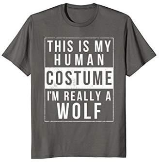 Wolf Halloween Costume Shirt Funny Easy for Kids Men Women