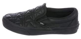 Karl Lagerfeld Vans x Leather Slip-On Sneakers w/ Tags
