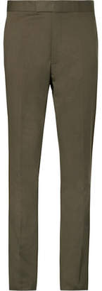 Kingsman Eggsy's Olive Cotton-Blend Suit Trousers