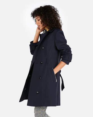 Express Solid Trench Coat