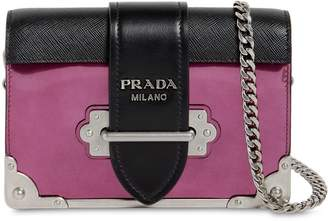 Prada Small Cahier Leather Shoulder Bag