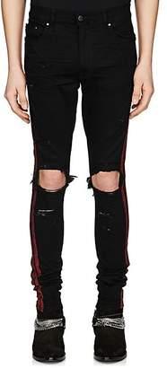 Amiri Men's Glitter-Striped Slim Jeans - Black