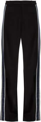 Max Mara Side-stripe wide-leg jersey trousers