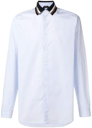 No.21 contrast-collar fitted shirt
