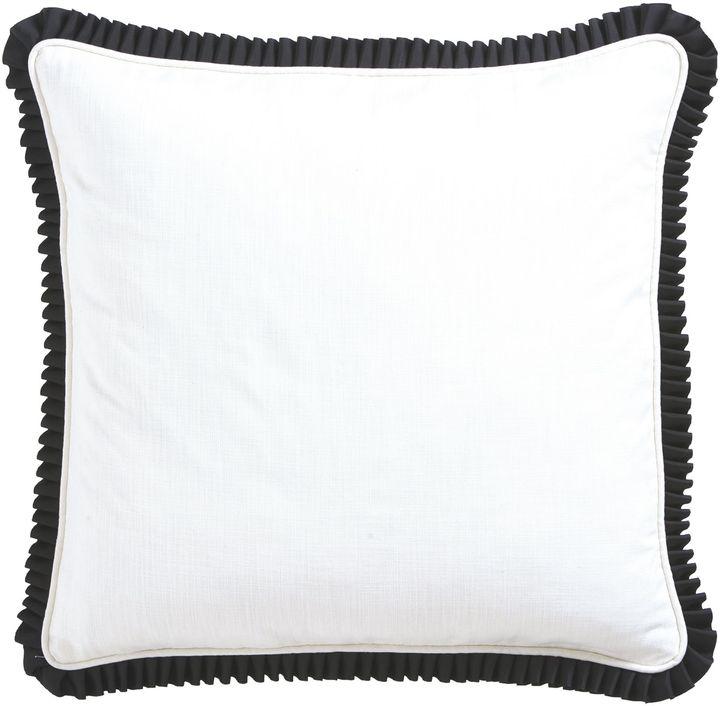 Ethan Allen White cotton/black ruffle