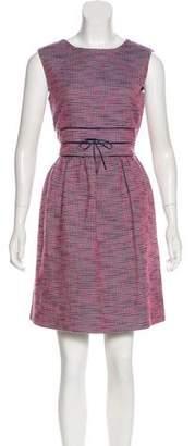 RED Valentino Tweed Sleeveless Knee-Length Dress
