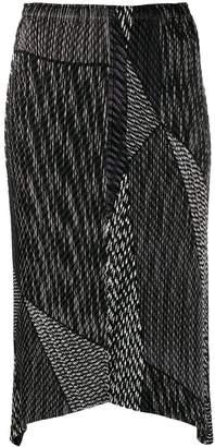 Issey Miyake structured design skirt