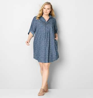 Avenue Mini Floral Denim Shirtdress